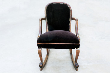 American Empire Style Rocking Chair in Oak, c.1890