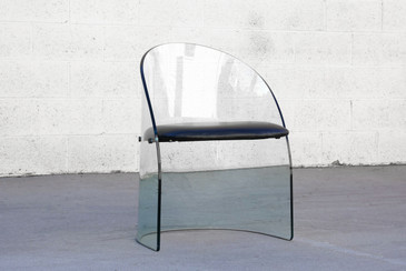 Curved Glass Chair in the Style of Pittsburgh Plate Glass Co.