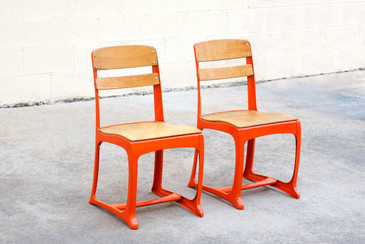1950s Retro School Chairs, Refinished