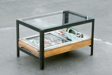 Custom Pachinko Game Coffee Table by Rehab Vintage Interiors