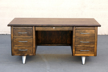 Impressive California Modern Desk in Walnut