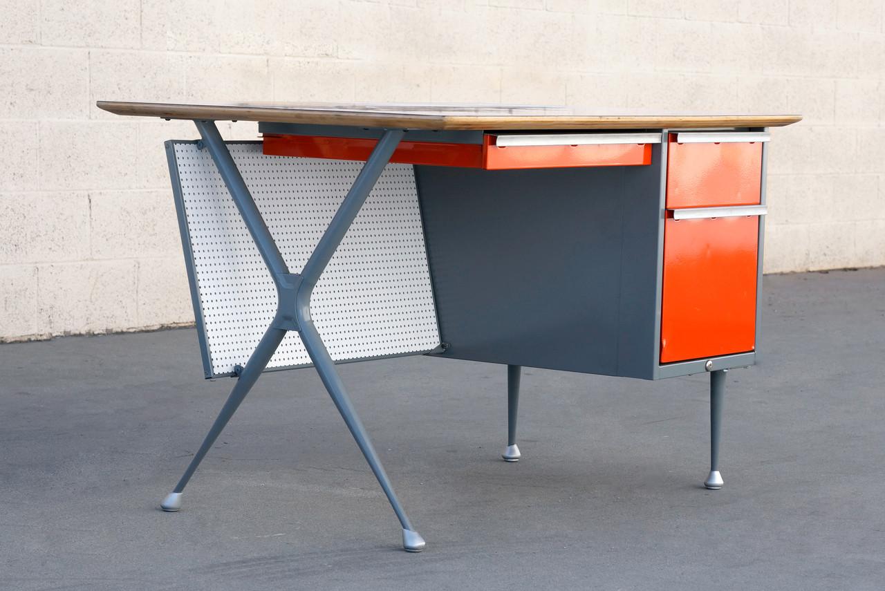 Beau SOLD   950s Raymond Loewy Desk For Brunswick