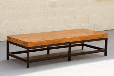 Contemporary Burl Coffee Table