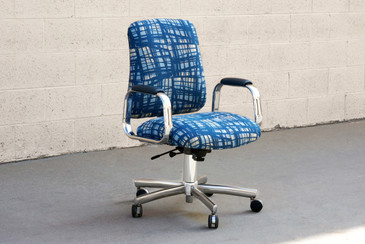 Vintage SteelCase Executive Steno Armchair, Refinished