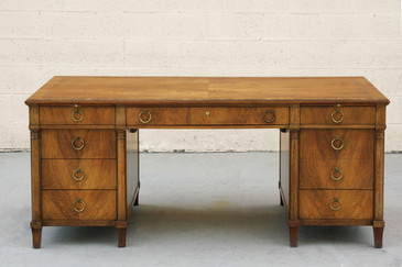 Stately Executive Desk in Solid Walnut by Baker