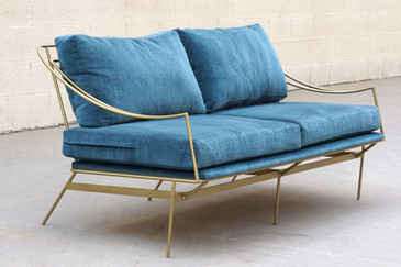 Custom 1960s Inspired Hairpin Sofa by Rehab Vintage