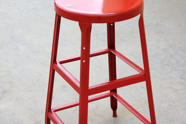 1940s Vintage Industrial Stool, Refinished