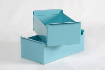 1950s Card File Drawers Refinished in Tiffany Blue