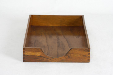 1960s Wood Desktop Letter Tray by Hedges Files