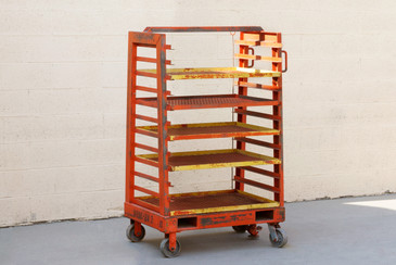 1940s Vintage Industrial Storage Rack with Expanding Shelves