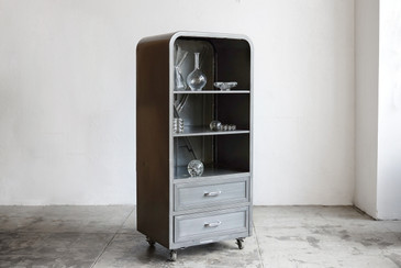 1950s Freezer Refurbished as Industrial Cabinet