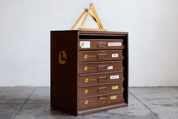 SOLD - Industrial Multi-Bin Storage Cabinet by Lawson