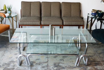 SOLD - Chrome and Glass Coffee Table, 1960s