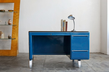 SOLD - General Fireproofing Mode-Maker Desk by Raymond Loewy