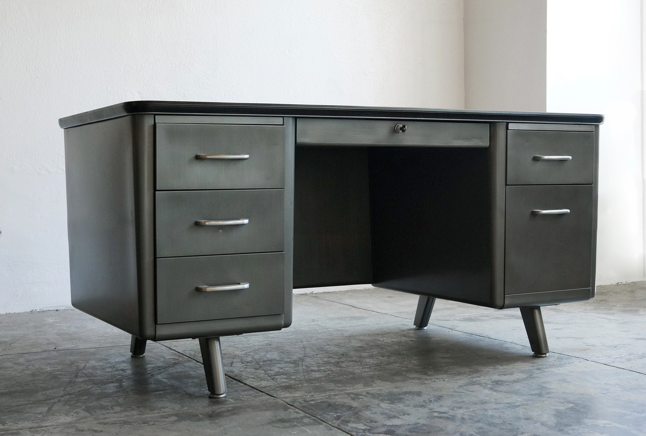 dark top silver wood hunky study tanker desk metal inspirations and dory table