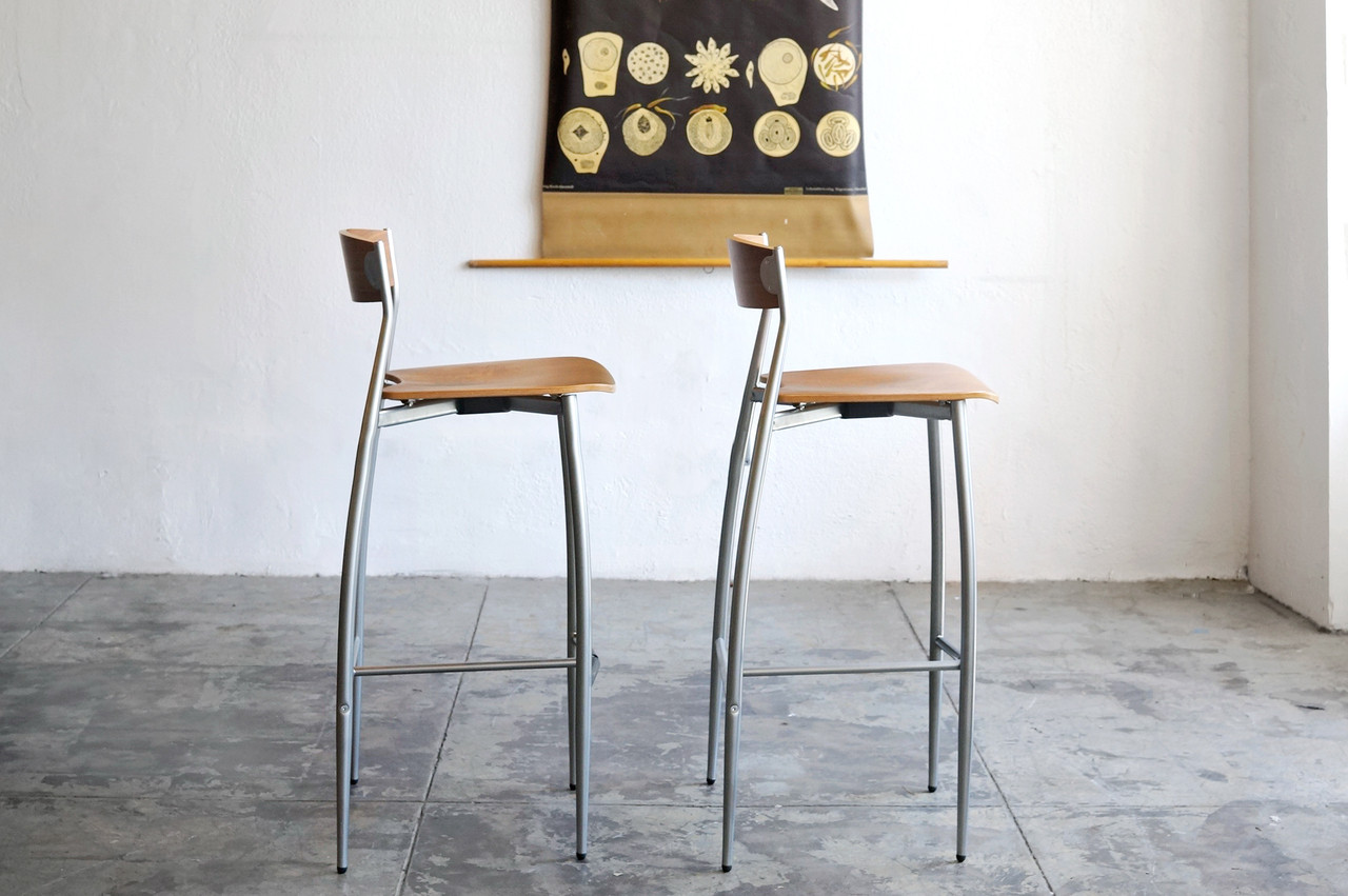 SOLD - Design Within Reach BABA Barstools Walnut and Chrome & SOLD - Design Within Reach BABA Barstools Walnut and Chrome ... islam-shia.org