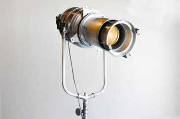 Large Vintage Hollywood Stage Light on Tripod, Refinished