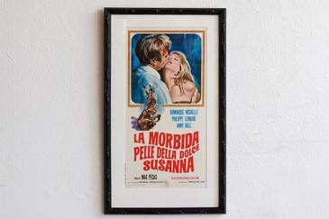 SOLD - 1968 Italian Poster, La Morbida Pelle Della Dolce Susanna