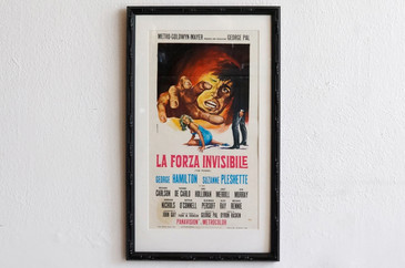 1968 Italian Movie Poster, La Forza Invisible, G.R. Stefano