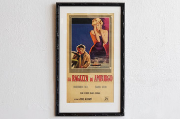 1960 Italian Movie Poster, La Ragazza Di Amburgo