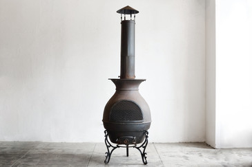 SOLD - Large Antique Cast Iron Potbelly Stove, c. 1890