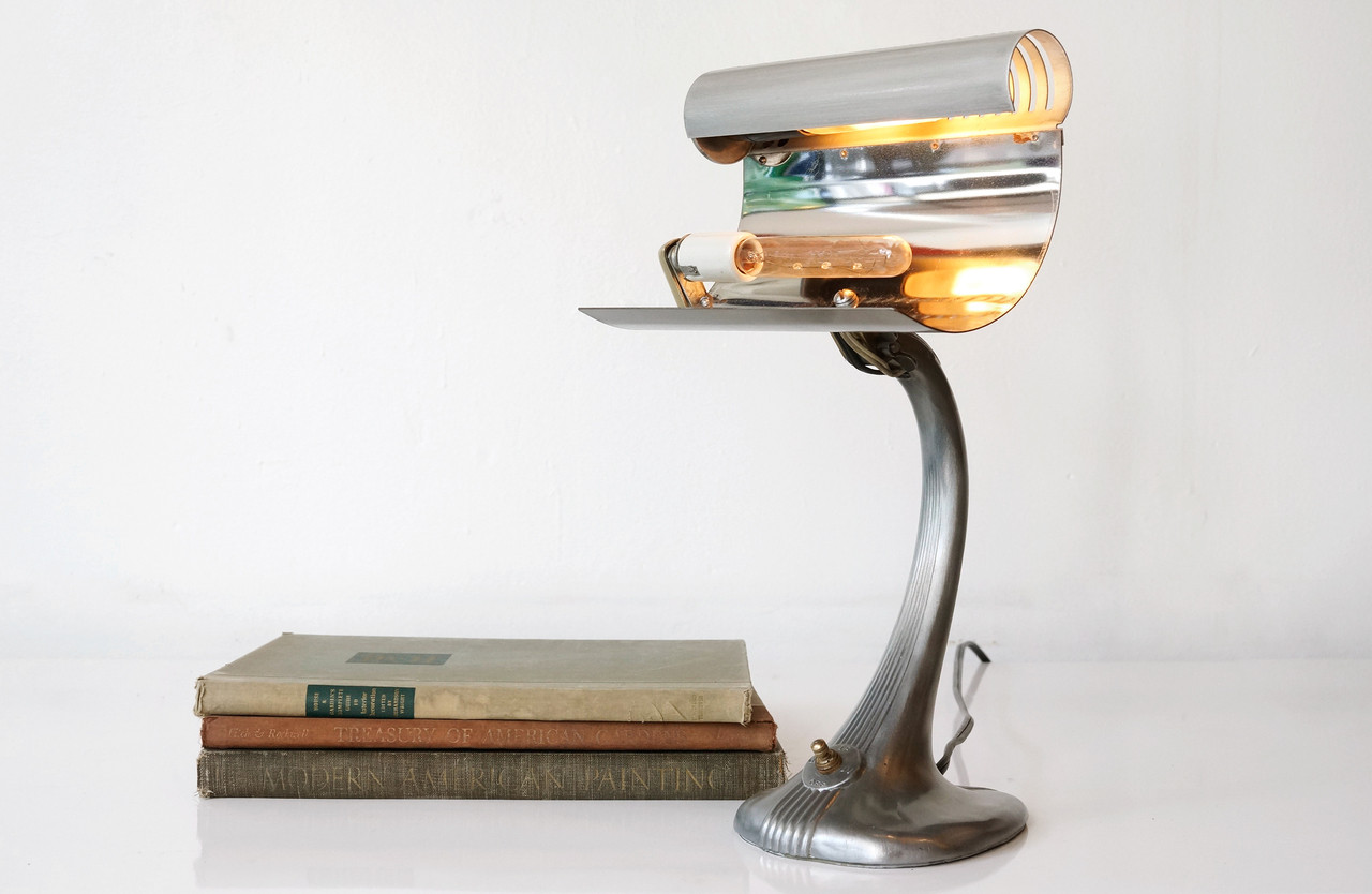 SOLD - 1930's Industrial Table Lamp by Mercolite Science ...