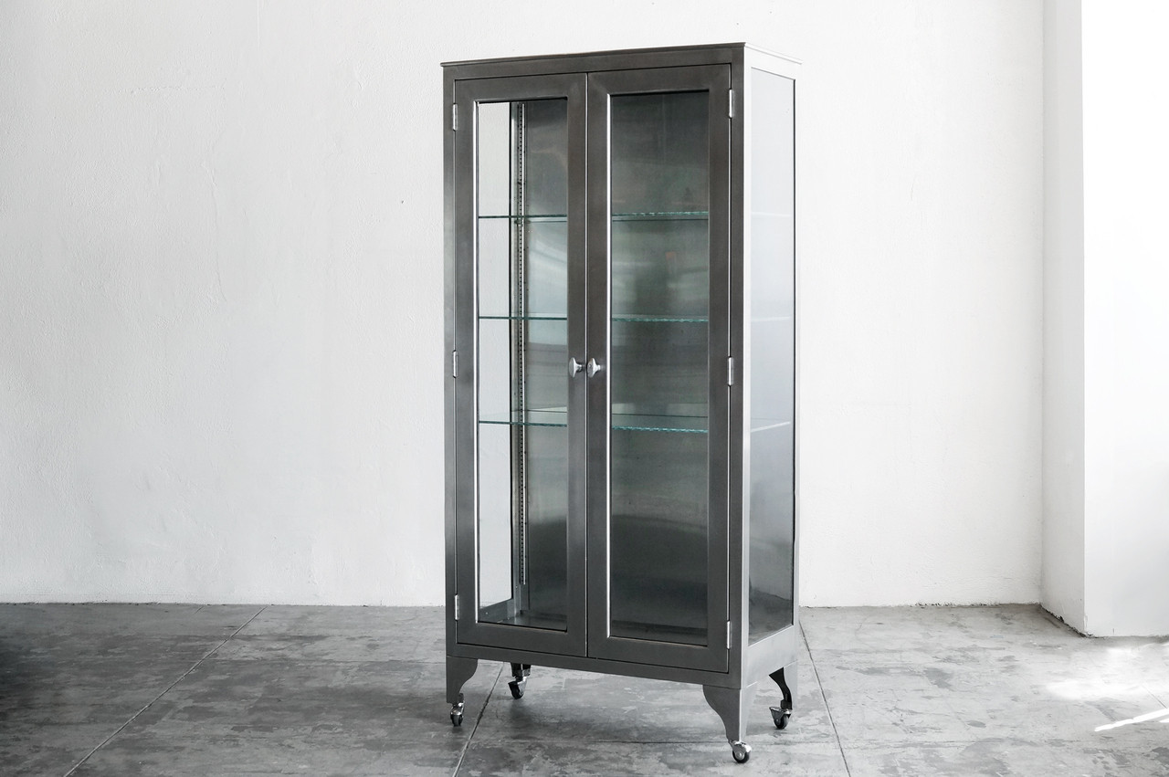 Awesome SOLD   Stainless Steel Medical Cabinet, C. 1960s