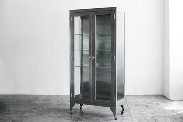 Stainless Steel Medical Cabinet, c. 1960s