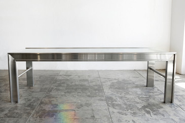 Custom-made Stainless Steel and Glass Conference Table