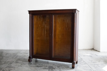 SOLD - Antique Display Cabinet/ Bookcase, Oak, c. 1890s