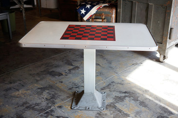 SOLD - Mid-Century Checkerboard Playing Table