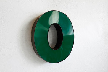 "SOLD - Vintage Channel Letter ""O"" in Forest Green - Large"