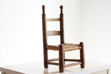 SOLD - Primitive Antique Hickory Child's Chair, c. Early 19th century