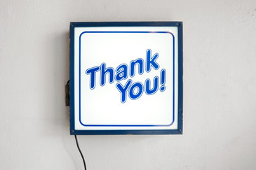 "Vintage "" THANK YOU!"" Light Box Store Sign"