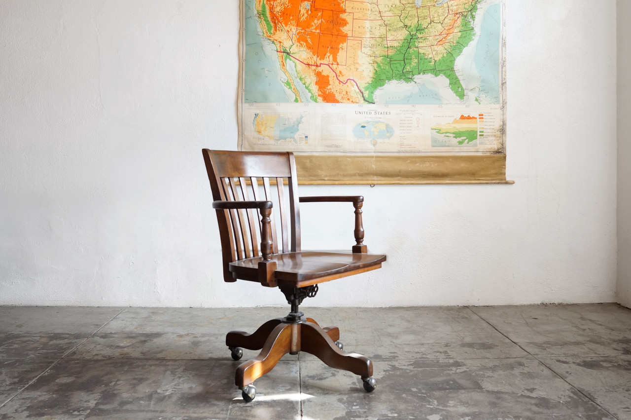 sold classic wood lawyer s chair by taylor chair company c 1940s