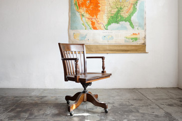 Classic Wood Lawyer's Chair by Taylor Chair Company, c. 1940s