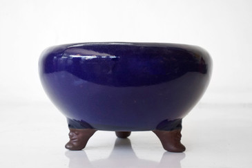 SOLD - Large Ceramic Bowl with Figurative Legs, c. 1920s