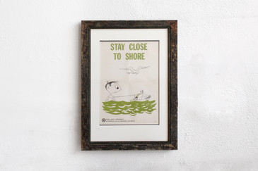 Stay Close to Shore - Mid Century PSA Poster, Framed