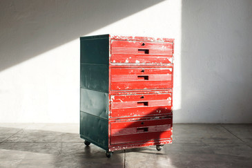 SOLD - Industrial Workshop Drawers on Casters, 1960s