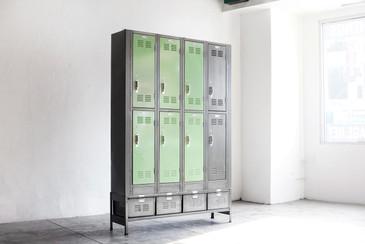 Vertical Locker and Basket Storage Unit