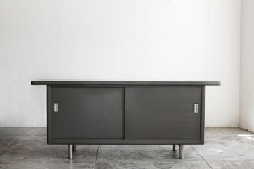 SPECIAL ORDER - 1960s Steel Open Credenza, Refinished