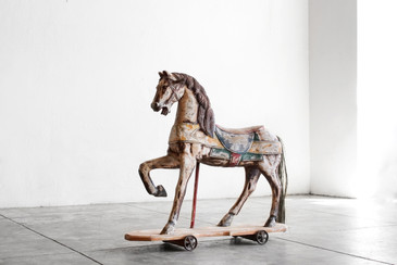 SOLD - Antique Horse Toy, Handpainted