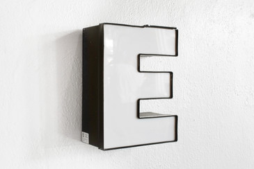 "SOLD - Vintage Channel Signage Letter ""E"" in White"