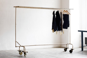 SOLD - Large Vintage Industrial Garment Rack, circa 1950s