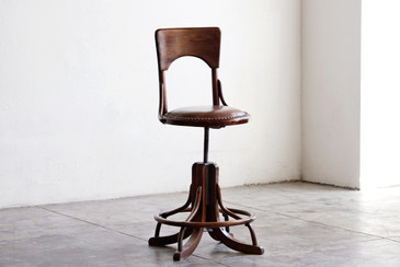 SOLD - Antique Wood Drafting Stool, c. 1890s