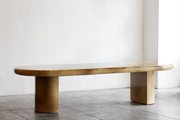 SOLD - Massive Karl Springer Style Expanding Dining Table. 1980s