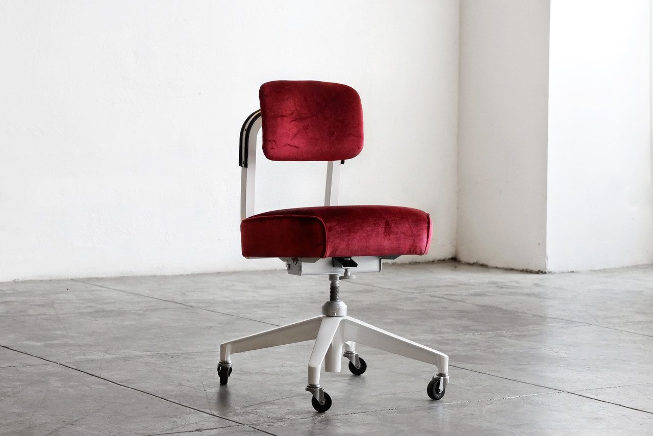 SOLD 1960s Armless Task Chair by Steelcase Refinished Rehab