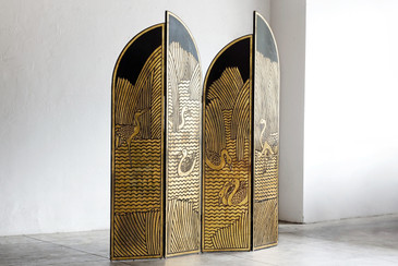 SOLD - Art Deco Folding Screen as Seen in Pretty Woman