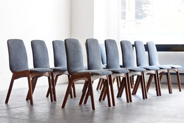Set of 12 Mid Century Dining Chairs by Foster McDavid