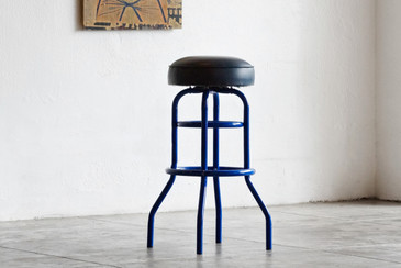 SOLD - Vintage Swivel Stool Refinished in Royal Blue